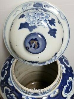 Chinese Blue & White Porcelain Glaze Ginger Jar Vase