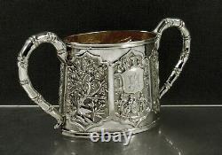 Chinese Export Silver Bowl c1885 LUEN WO
