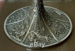 Chinese Export Silver Candelabra c1890 Wang Hing 50 Ounces