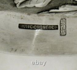 Chinese Export Silver Center Bowl c1890 HUNG CHONG