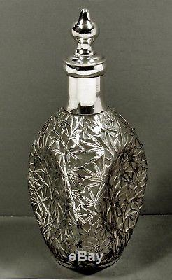 Chinese Export Silver Decanter TAIPING SOLID SILVER 10 INCHES