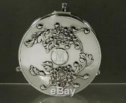 Chinese Export Silver Jewelry Box c1890 Signed