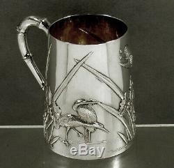 Chinese Export Silver Mug c1890 Wihg Nam