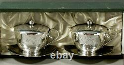 Chinese Export Silver Tea Set SIGNED IN CASE