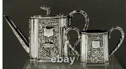 Chinese Export Silver Tea Set c1850 CUMSHING