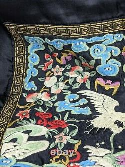 Chinese Fine Silk Embroidered Rank Badge early / mid 20th century Quality