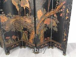 Chinese Folding Screen 6 panels COMALDEL CRANES/LANDSCAPE