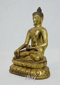 Chinese Gilt Bronze Buddha Figure M993