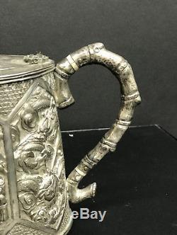 Chinese Silver Teapot Late 19th C Wang Hing of Hong Kong Export Exported China