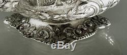 Chinese Silver Teapot c1835 SAMUEL KIRK CHINESE HARBOR & CASTLE 36 OZ