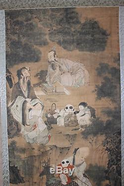 Chinese scroll painting, by Wang Wenwei Qing/Ming dynasty, 17th c