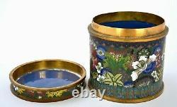 Early 20C Chinese Cloisonne Enamel Tea Caddy Box Lao Tian Lee LaoTianLi