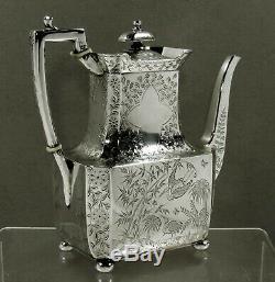English Sterling Tea Set 1880 CHINESE