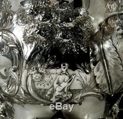Eoff & Shepard Silver Coffee Pot c1855 Chinese Style