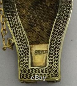 Fine Antique Chinese Enamel Jade/Jadeite Silver Bracelet (C515)
