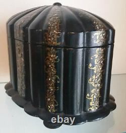 Fine Antique Chinese Lacquer And Mother Of Pearl Inlaid Tea Caddy Box C-1860