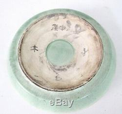 Fine Antique Chinese Porcelain Celadon Plate Signed