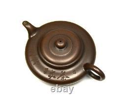 Fine Chinese Carved Slim Body Yixing Zisha Purple Clay Ceramic Teapot with Mark