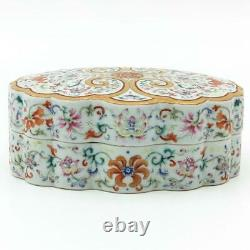 Fine Large Chinese Famille Rose Flower Box, Qianlong Mark