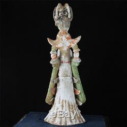 Important 13 Chinese Tang Dynasty Pottery Dancer Court Lady Figure Tomb Statue