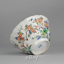 Large ca1700 Kangxi Chinese Porcelain Bowl Famille Verte Antique Qing China Top