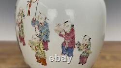 Museum Quality Chinese Qing Daoguang Famille Rose Boys Playing Porcelain Vase