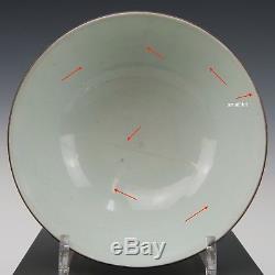 Nice Chinese B&W porcelain bowl, horses, 19th century. Marked