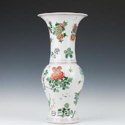 Nice large Chinese Famille verte Yenyen vase, Kangxi, early 18th century