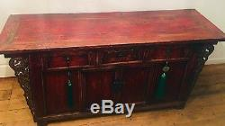 REDUCED! Antique Chinese Sideboard. Oriental Winged Cabinet. Beautiful patina