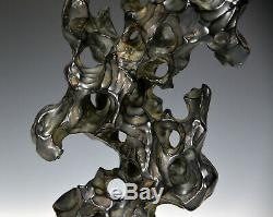 Rare Antique Chinese Qing Tang Ying MK Lingbi Shi Stone Porcelain Scholar's Rock
