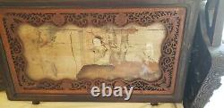 Rare Antique Hand Carved Indian Mahogany Chinese Daybed, Opium / Wedding Bed