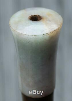 Rare Chinese Antique Pipe, O pium Light, Jade