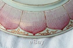 Rare Qing Qianlong Chinese Export Porcelain Famille-Rose Lotus Dish, circa 1760