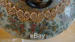 Scarce Huge 23 Famille Rose Antique Chinese Export Porcelain Vases China Vase