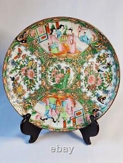 Set of 3 Vintage 19th Century Famile Rose Medallion Chinese Porcelain Plates