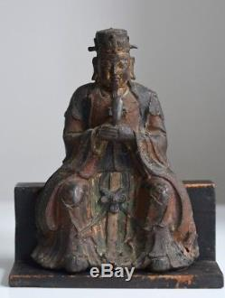 Superb! Antique Chinese Ming 15/16th C Bronze Polychrome Official Wenchang Wang