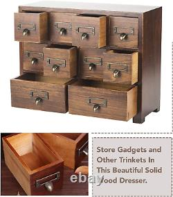 Traditional Solid Wood Small Chinese Medicine Cabinet Storage Apothecary Drawer