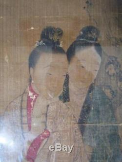 VERY RARE ANTIQUE signed CHINESE CALLIGRAPHY SCROLL PAINTING