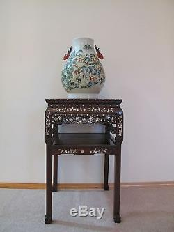 Very Fine 18-19th Century Qing Dyn. Chinese Rosewood Mother of Pearl Inlay Table