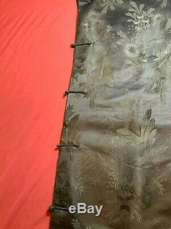 Vintage Chinese Damask Silk Woman Robe Jacket Skirt Embroidered Antique #6