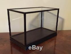 Vintage Chinese Glass Wood Display Box Case Plateau Stand Base & Cover for Vase