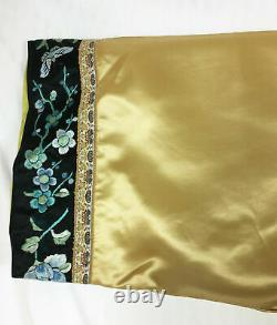 Vintage Chinese Silk Robe Jacket Hand Embroidered Pheonix embroidery Qing