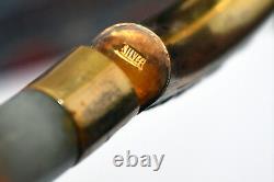 Vintage Chinese Silver and Natural Jade Bangle/Bracelet