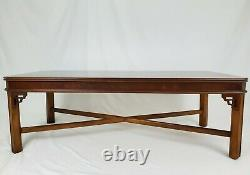 Vintage Lane Chinese Chippendale Coffee Table Walnut Wood 11257