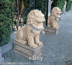 Vintage Style Giant Chinese Indigo Foo Dog Fu Dog sculpture Forbidden city
