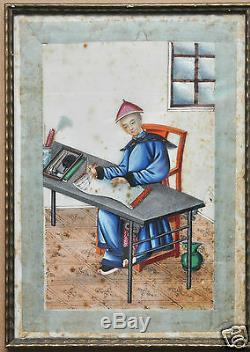 10 Antiquités Chinoises Chine Aquarelle De La Dynastie Qing, Peindre Du Riz Sunqua 1850