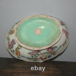 10 Bonne Famille Chinoise Rose Porcelaine Les Huit Immortels Figure Stories Bowls