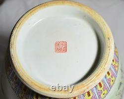 14 Antiquités Vase Peinte À La Main À La Main À La Main À La Main! Rare