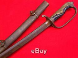 1890. Rare À La Seconde Guerre Mondiale Bataille De Capitaine De L'armée De Chinois Ou Lieutenant-épée Numerotees