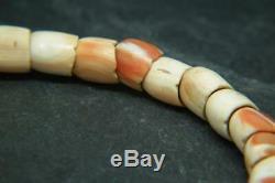 18 Antique Rare / 19ème C Chinois Sculpté Corail / Conch Shell Dragon Bracelet